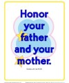 10 Commandments for Kids - Honor Your Mother and Father Poster