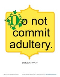 Printable 10 Commandments for Kids Poster - Adultery