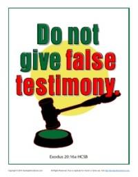 10 Commandments for Kids - Do Not Give False Testimony