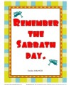 10 Commandments for Kids - Remember the Sabbath Day Poster