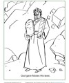 God Gave Moses His Laws - Bible Activity Coloring Page