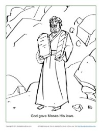 moses ten commandments coloring pages - god gave moses the ten commandments coloring page