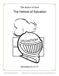 armour of god coloring page - helmet of salvation coloring page armor of god for kids