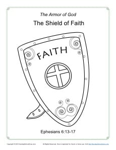 god is my shield coloring page shield of faith coloring page armor of god for kids