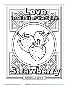 Fruit Of The Spirit For Kids Love Coloring Page