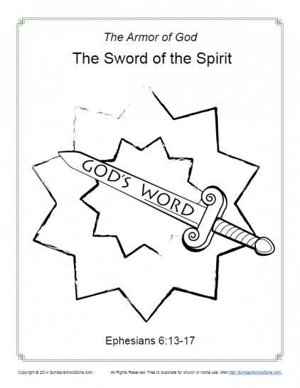 Free, Printable Armor Of God Activities On Sunday School Zone