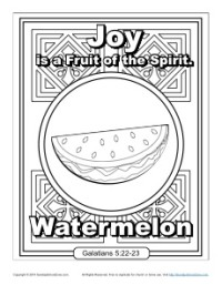 fruit of the spirit for kids joy coloring page