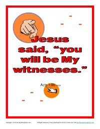 Acts 1:8b Printable Bible Verse Poster