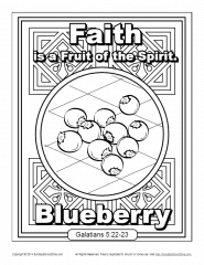 Fruit of the Spirit for Kids | Faith Coloring Page