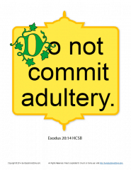 Do Not Commit Adultery Scripture Page