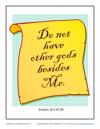 Exodus 20:3 Scripture Page