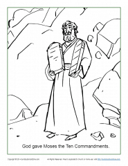 The 10 Commandments Coloring Page