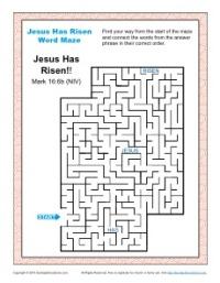 Jesus Has Risen - Printable Word Maze Activity