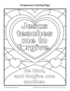 Jesus Teaches Me to Five Printable Coloring Page