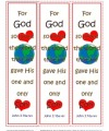 John 3:16 Printable Bookmarks