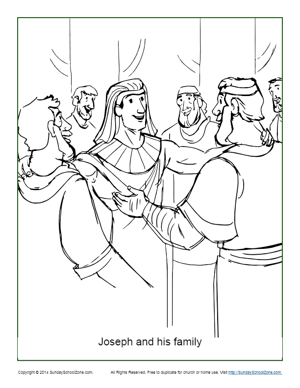 Joseph And His Brothers Coloring Pages - Coloring Home | 792x612