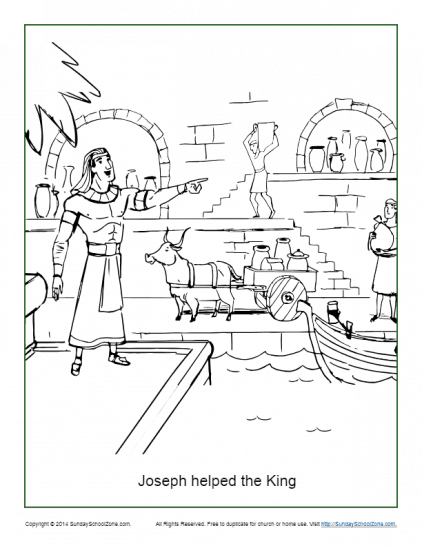 joseph helped the king coloring page pdf image 422x546