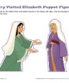 Sunday School Mary and Elizabeth Puppet Figures