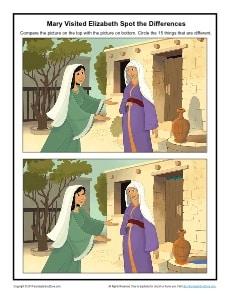 Mary Visited Elizabeth Printable