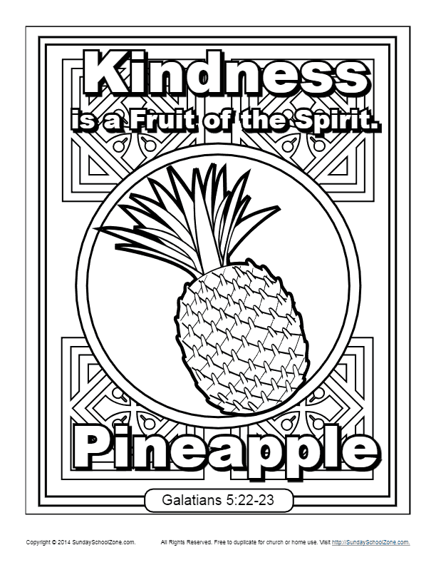 Fruit Of The Spirit For Kids Kindness Coloring Page