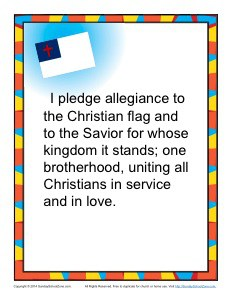 image about Pledge of Allegiance Printable referred to as The Christian Flag and Pledge - Childrens Bible Actions