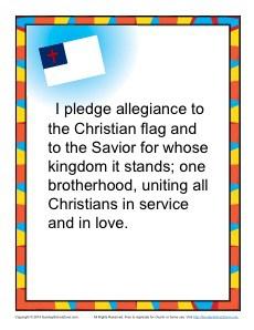 Christian Pledge of Allegiance Poster Sunday School