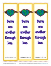 Serve One Another Printable Bookmarks