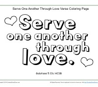 Serve one another printable coloring page for Love one another coloring pages
