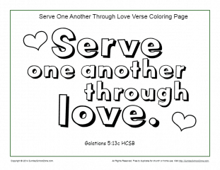 photograph relating to Love One Another Printable named Provide One particular Yet another Printable Coloring Web page