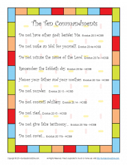 Ten Commandments Scripture Poster