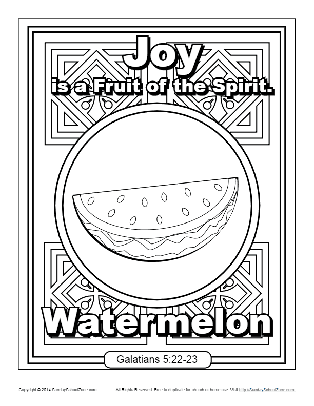 Fruit of the Spirit for Kids | Joy Coloring Page