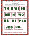 Wise Men Worshipped Jesus Word Tiles Activity