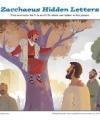 Zaccaeus Hidden Letters Sunday School Activity for Kids