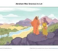 Abraham Was Gracious to Lot Children's Sermon Picture