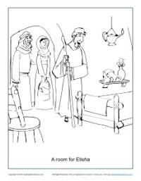 A Room For Elisha Coloring Page