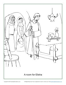 a room for elisha coloring pagejpg
