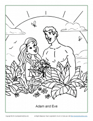 Free Printable Adam and Eve Coloring Pages for Kids – ConnectUS | 240x185