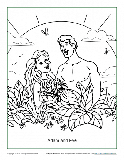 Top 25 FreePrintable Adam And Eve Coloring Pages Online | 546x422