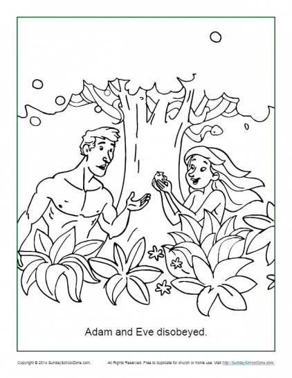Free Printable Adam And Eve Bible Activities On Sunday School Zone