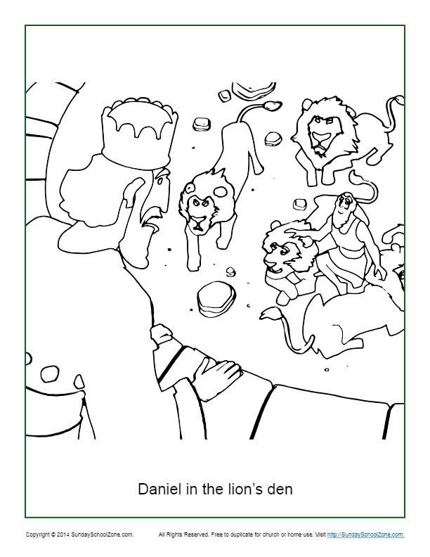 Daniel in the Lion39s Den Coloring Page