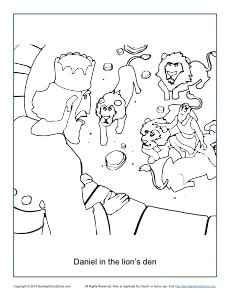 daniel in the lion s den coloring page - daniel in the lion 39 s den coloring page