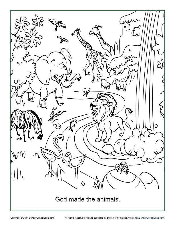 Free Printable Creation Bible Activities On Sunday School Zone
