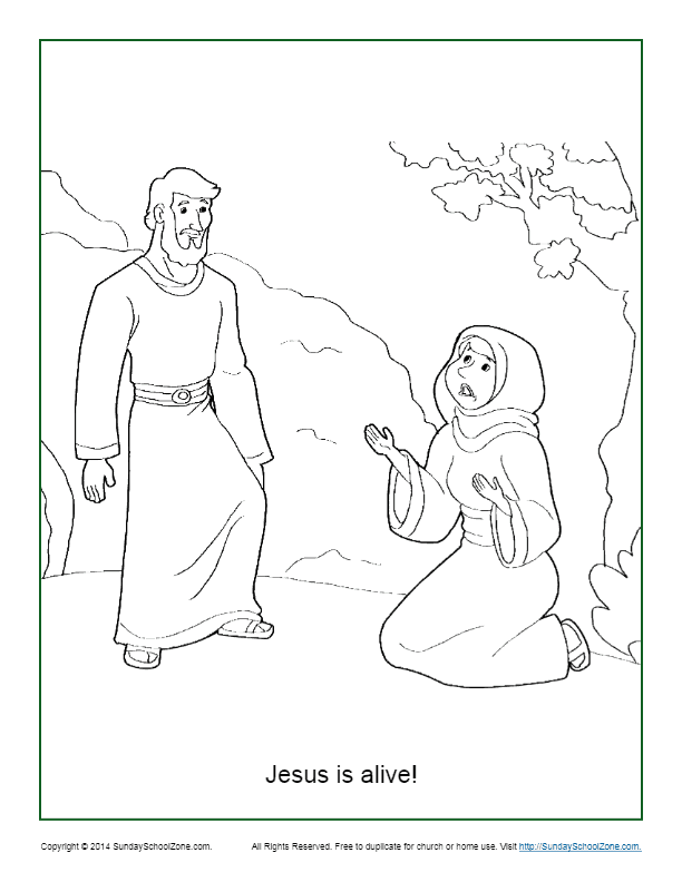 Jesus Is Alive Resurrection Coloring