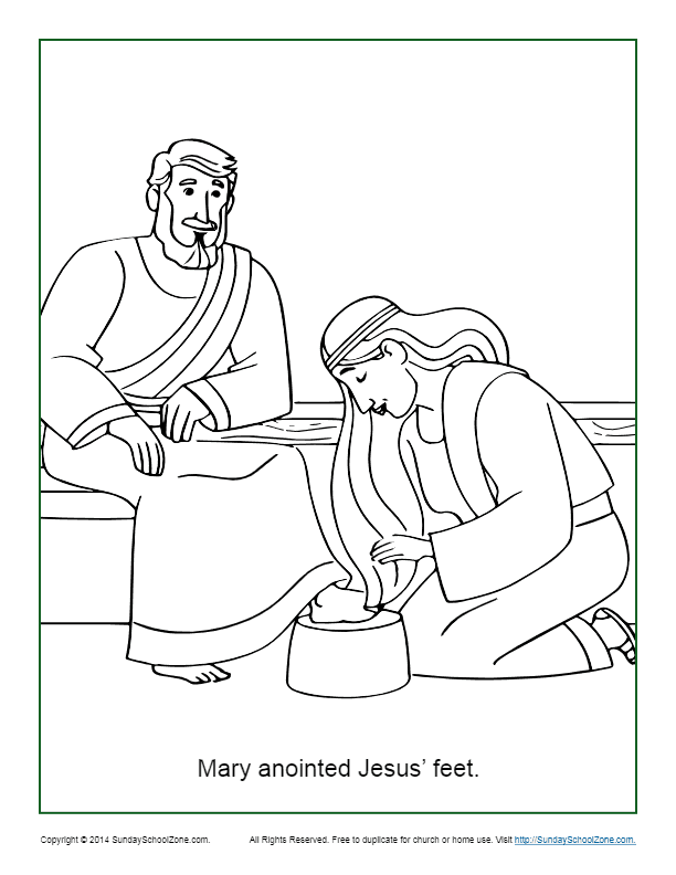 Jesus Washes His Disciples Feet in Miracles of Jesus Coloring Page ... | 792x612