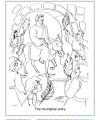 A Coloring Page Bible Activity - The Triumphant Entry