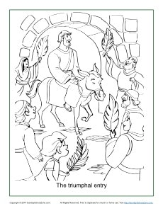 coloring pages triumphal entry - photo#9