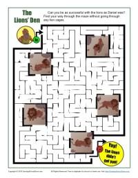 Children's Bible Activity - Daniel and the Lions' Den Maze