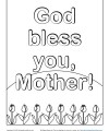 God Bless You, Mother - Coloring Activity for Kids