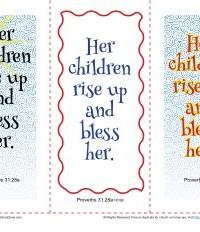 Bible Verse Bookmarks - Sunday School Activities for Kids