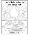 Bible Verse Coloring Page - Sunday School Activity